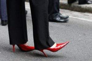 Wearing high heels to work could damage your health