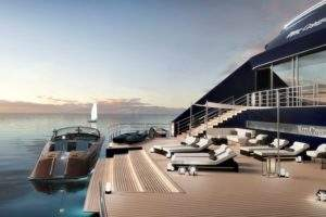 This is the view from Ritz-Carlton's first ever luxury cruise yacht