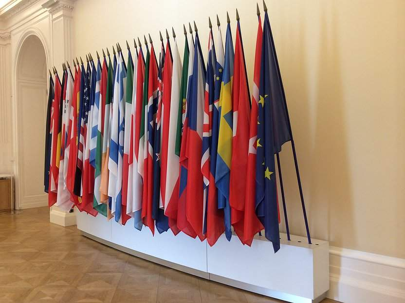 OECD world flags