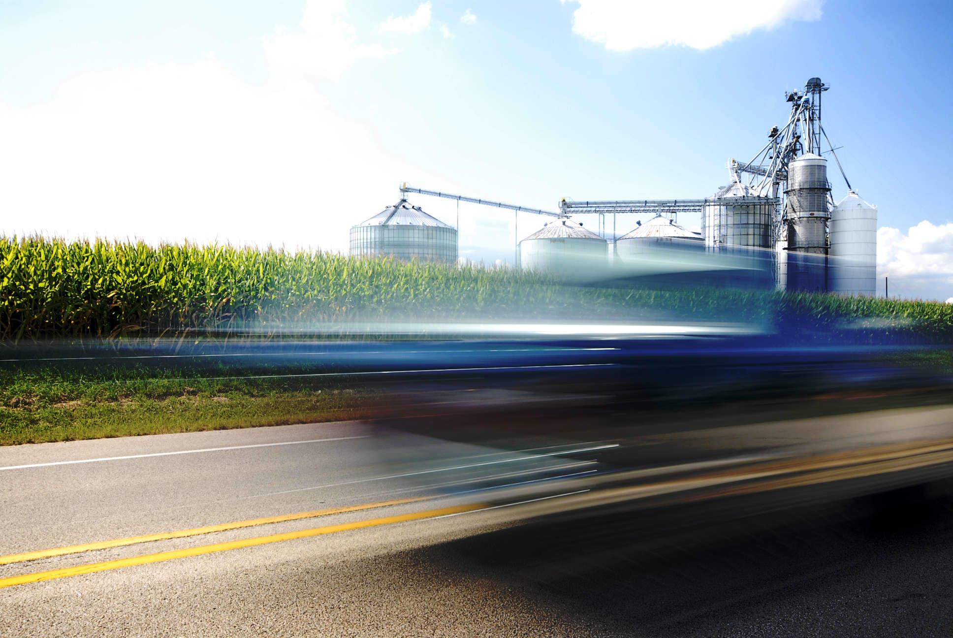Blue Car & Corn Energy