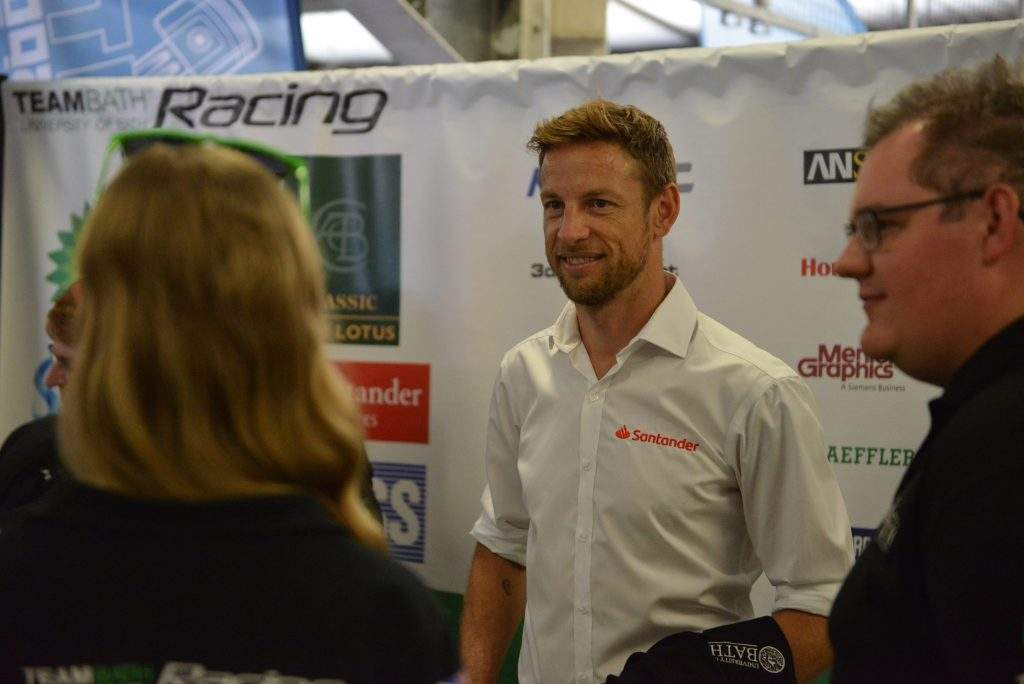 Jenson Button at the Formula Student World Finals in Silverstone