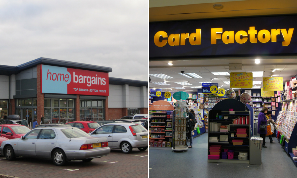 Home bargains/card factory