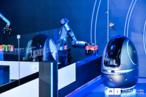 Alibaba has built a hotel robot that delivers food and returns your laundry