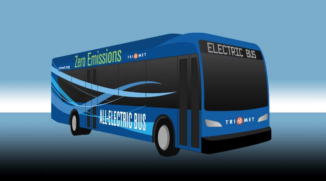 Trimet electric bus