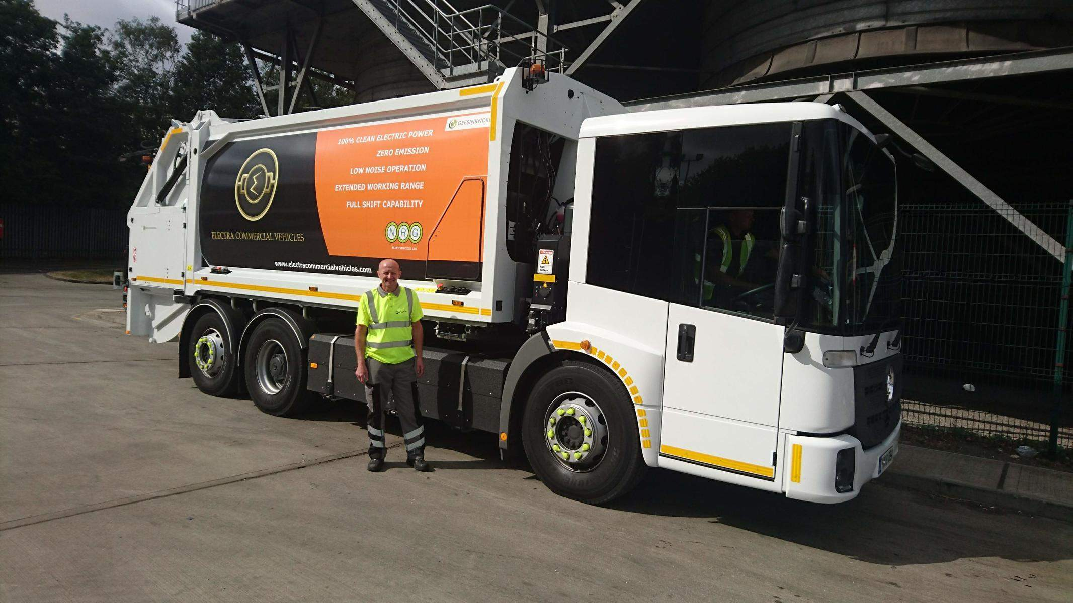 Veolia all-electric bin lorries