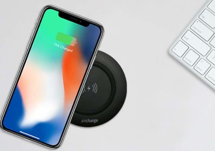 Iphone charging wirelessly with Aircharge