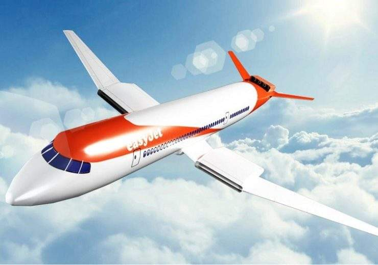 A mock-up of the Easyjet A320 neo electric plane that could be ready for flight by next year (Credit: EasyJet)