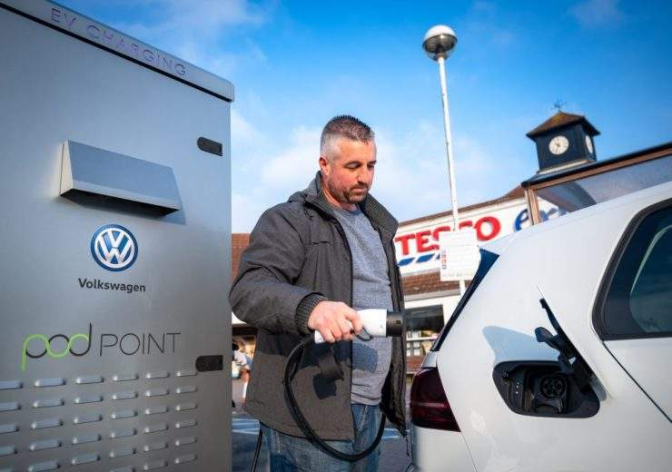 Tesco and VW electric charging bays
