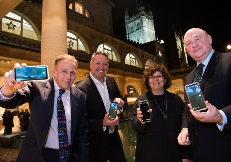 5G smart tourism Roman Baths trial