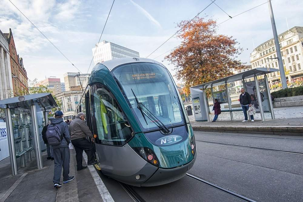 Nottingham tram, carbon-neutral city