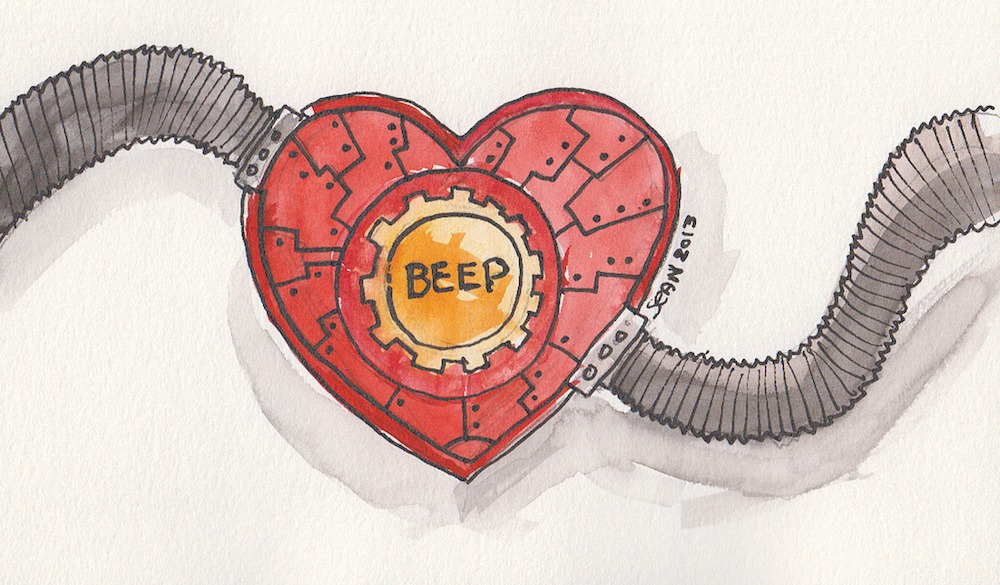 Robot heart (Credit: Sean McMenemy/Flickr)