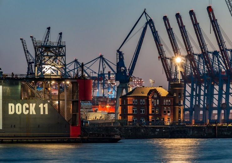 Architecture Elbe Port Sky Hamburg Water Maritime