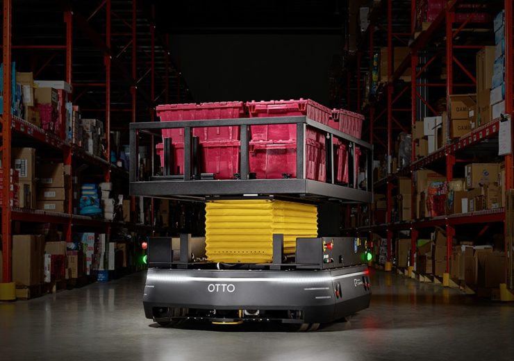 Otto autonomous vehicle in warehouse