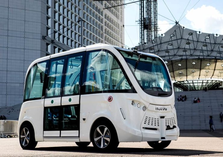 Two Navya shuttles and two buses will provide the autonomous bus service in Singapore (Credit: Navya)