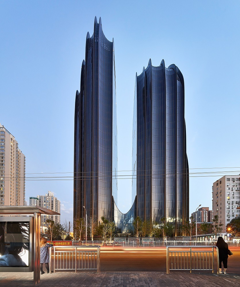 Chaoyang Park Plaza in Beijing, Chinese architecture style