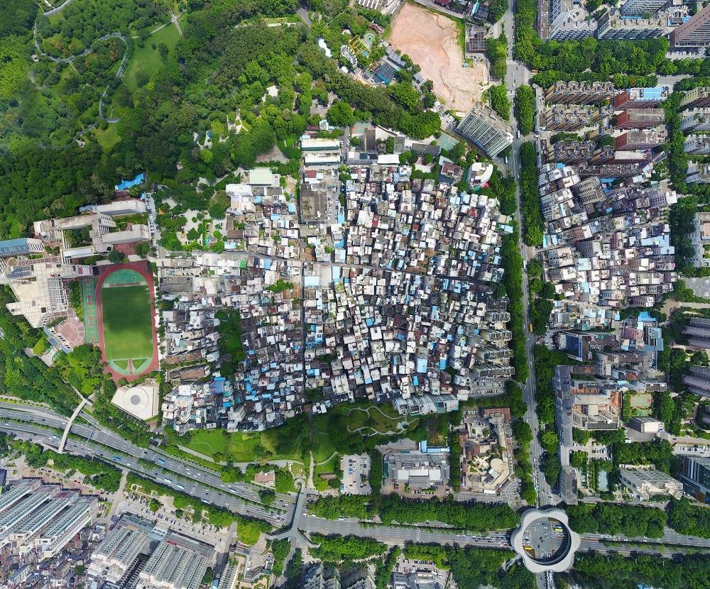 Nantou village in Shenzhen, Chinese architecture style