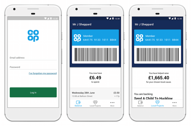 Co-op membership app, future of retail technology