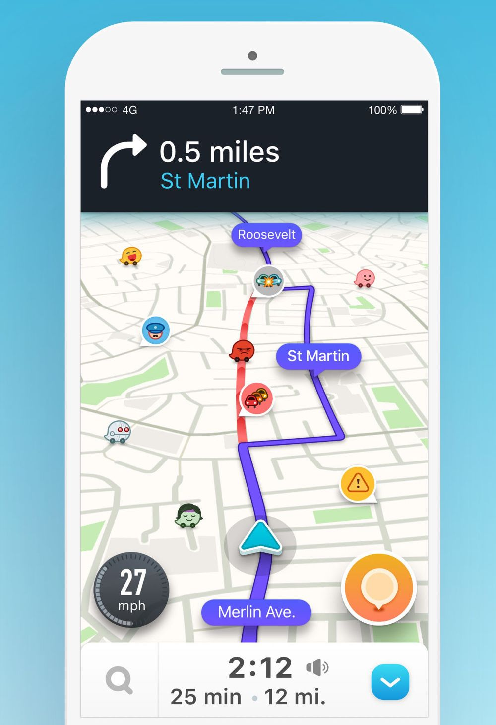 Waze app, travel assistant app