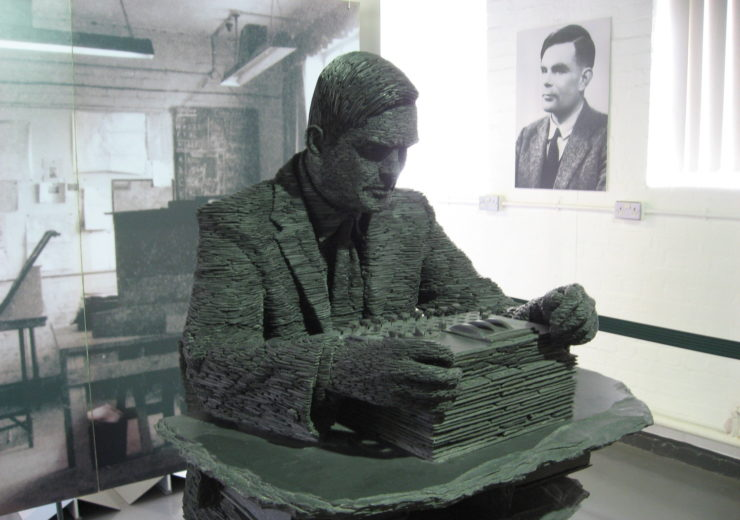 A statue of Alan Turing at Bletchley Park where he was instrumental in the Allied code-breaking effort during WWII (Credit: Jon Callas/Flickr)