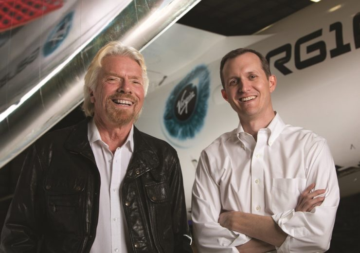 Richard Branson with Virgin Galactic and The Spaceship Company CEO, George Whitesides