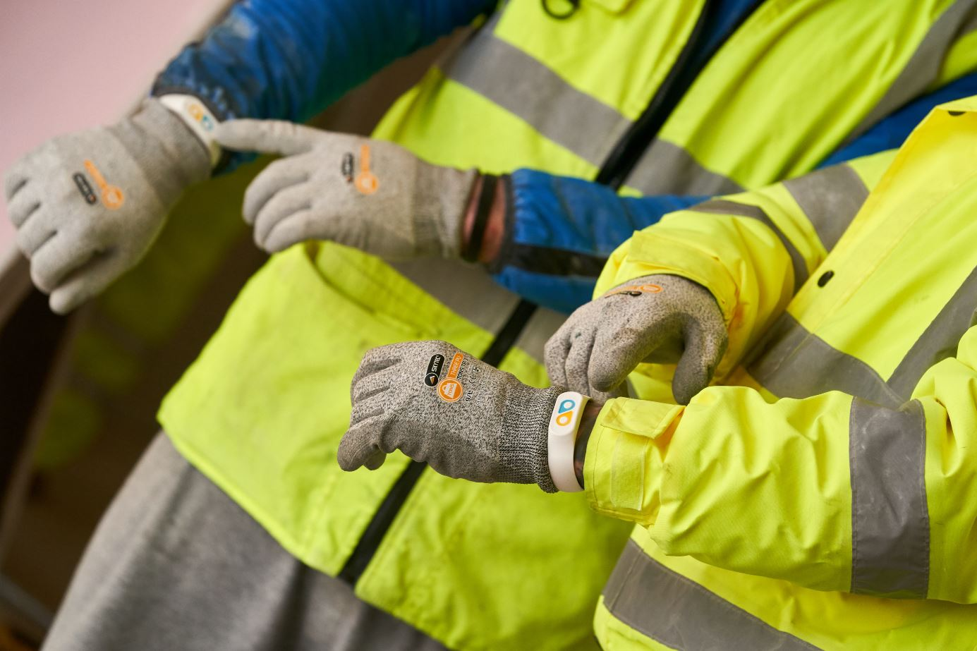 Health monitoring construction workers